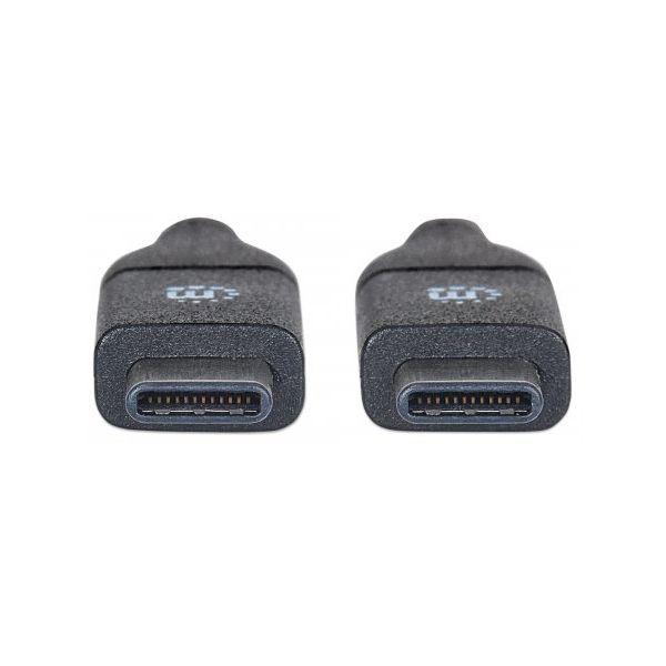 CABLE USB TIPO C MANHATTAN M-M 50 CM NEGRO V3.1 GEN2 354899