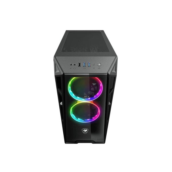 GABINETE GAMER COUGAR TURRET RGB BLACK ATX VENTANA 385QMY0.0003