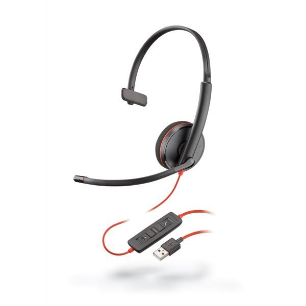 AUDIFONOS CON MICROFONO PLANTRONICS BLACKWIRE 3210 USB/3.5MM 09744-101