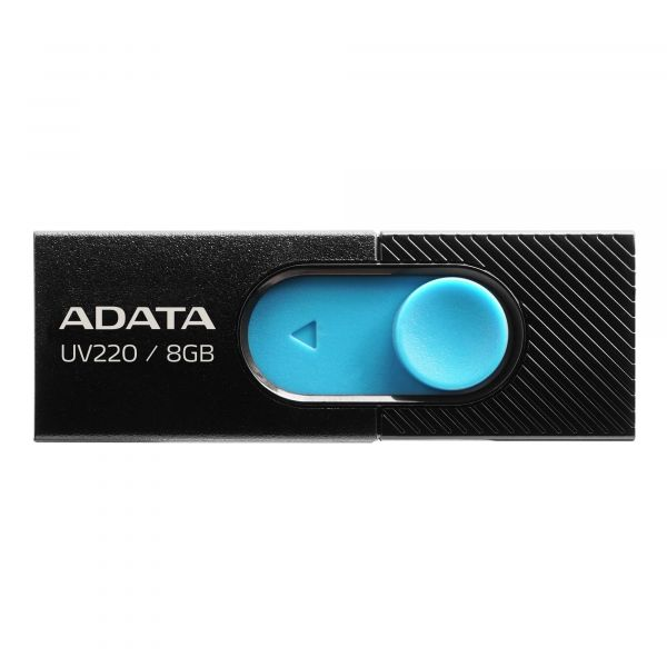 MEMORIA FLASH ADATA UV220 8GB USB2.0 NEGRO/AZUL AUV220-8G-RBKBL