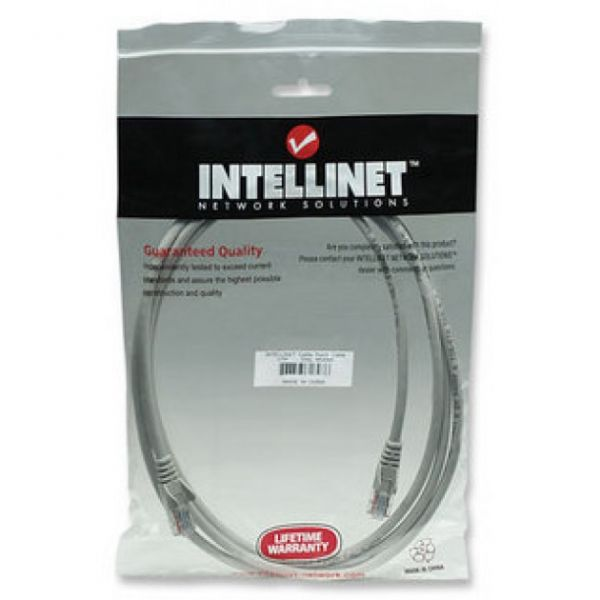 CABLE PATCH SOHO INTELLINET 3.0 MTS CAT-5E UTP GRIS (362252)