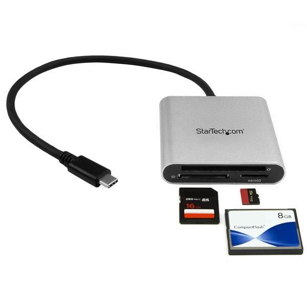 STARTECH LECTOR-GRABADOR USB3.0 SD,MICROSD,COMP.FLASH FCREADU3C