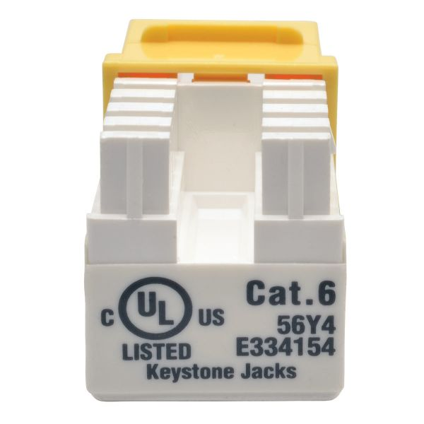 JACK CAT6 TRIPP LITE PUNCH DOWN 110 RJ45 AMARILLO N238-001-YW