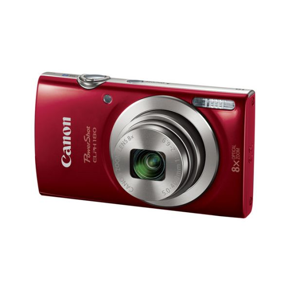 CAMARA DIGITAL CANON POWERSHOT ELPH 180, 20MP, ZOOM 8X, ROJA