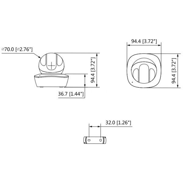 CAMARA DOMO DAHUA MOTORIZADO 3MP 1080P 3.6MM IR10M WIFI RJ45 IPC-A35