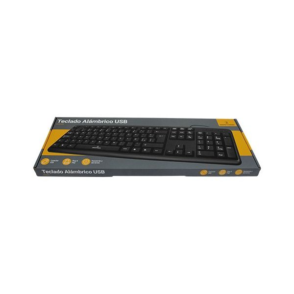 TECLADO PERFECT CHOICE PC-201038 USB QWERTY NEGRO UNIVERSAL ALAMBRICO