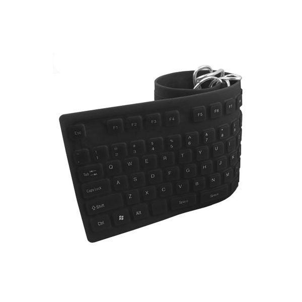 TECLADO FLEXIBLE BROBOTIX NEGRO USB PC/LAPTOP 801935