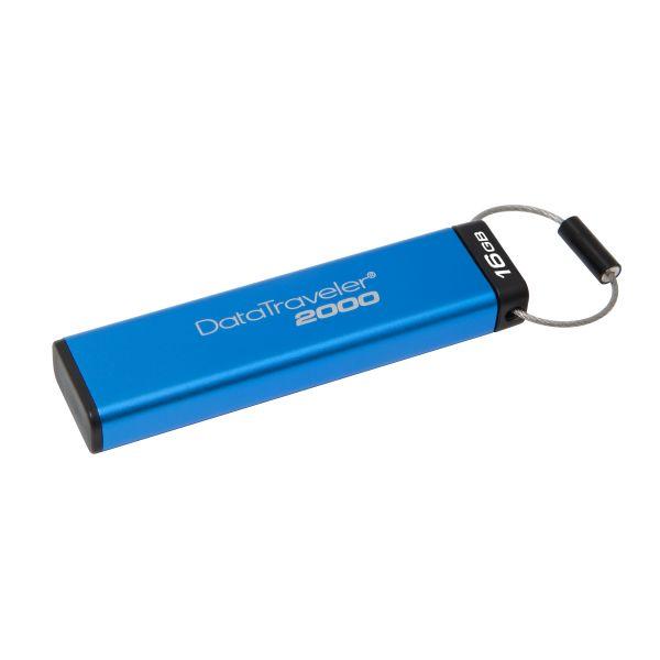 MEMORIA FLASH KINGSTON 16GB CON LOCK USB 3.1 AZUL (DT2000/16GB)