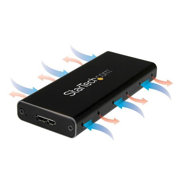 STARTECH GABINETE ADAPTADOR M.2 NGFF A USB 3.1 1 BAHIA SM21BMU31C3