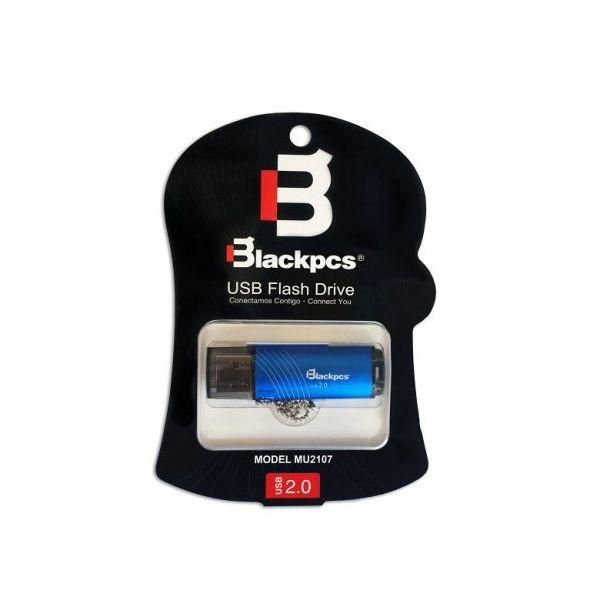 MEMORIA FLASH BLACKPCS 8GB COLOR AZUL PLASTICO USB 2.0 (MU2107B-8)