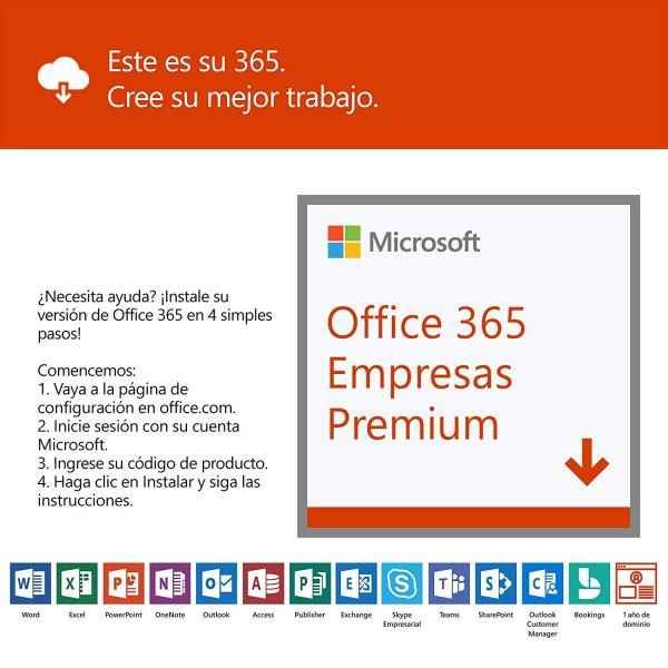 MICROSOFT OFFICE 365 EMPRESA PREMIUM WIN/MAC ESP 1 AÑO  CAJA KLQ-00439