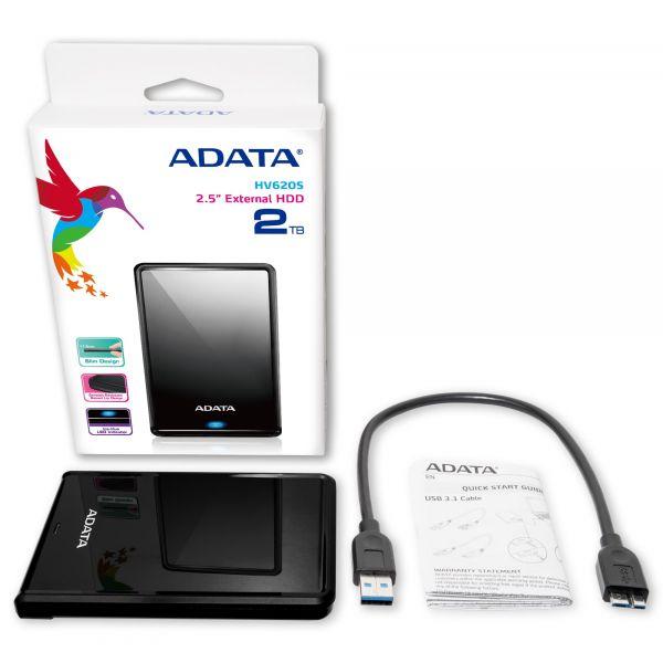 DISCO DURO EXTERNO ADATA HV620S 4TB USB 3.0 NEG. AHV620S-4TU31-CBK