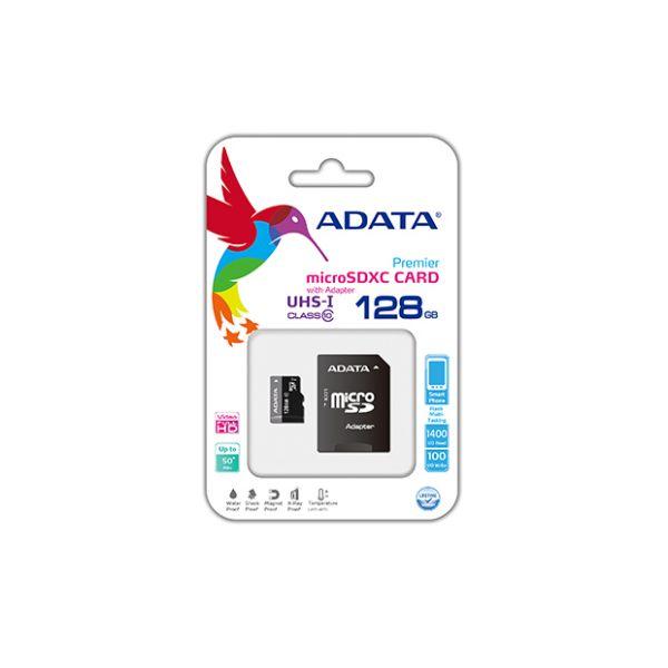 MEMORIA MICRO SDHC ADATA 128GB UHS-I U1 C/ ADAPT (AUSDX128GUICL10-RA1)
