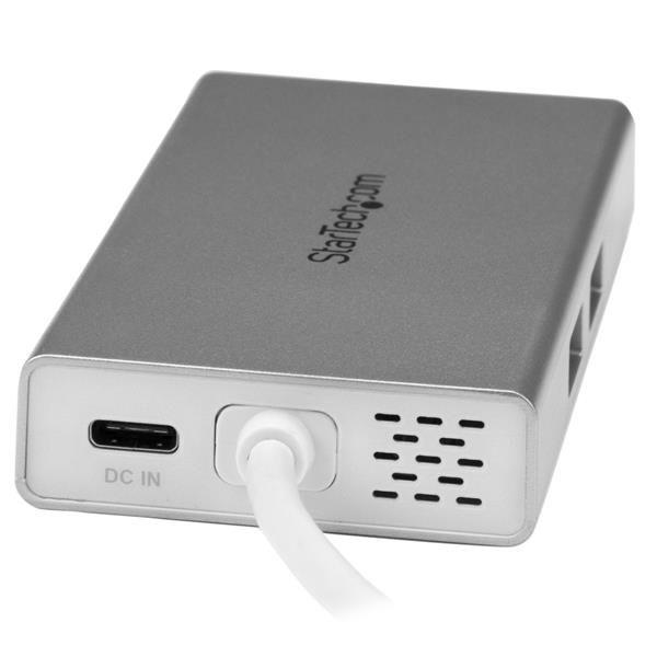 STARTECH ADAPTADOR USB-C USB3.0 4K-HDMI RED RJ45 LAN DKT30CHPDW