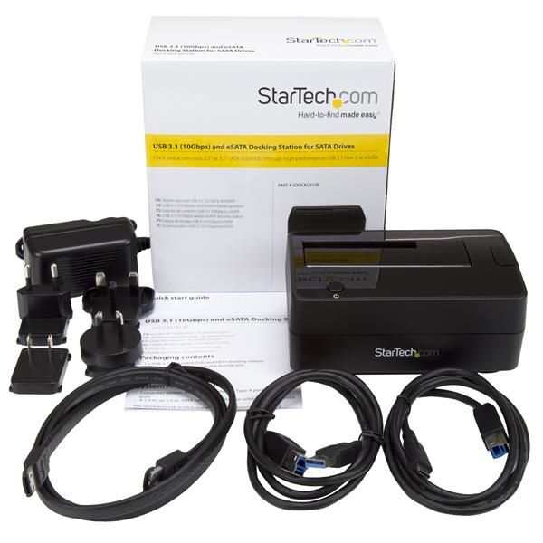 STARTECH DOCKING STATION USB3.1 1BAHIA HDD-SSD 2.5/3.5