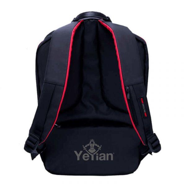 MOCHILA GAMER YEYIAN SHELL YMS-23801 NEGRO ROJO PARA LAPTOP 15.6