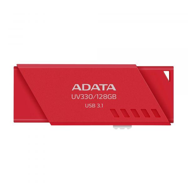 MEMORIA FLASH ADATA UV330 128GB USB 3.1 ROJO PC-MAC AUV330-128G-RRD