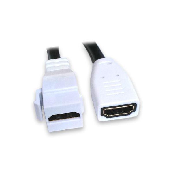 JACK BROBOTIX 104691 HDMI - HDMI COLOR BLANCO HEMBRA-HEMBRA