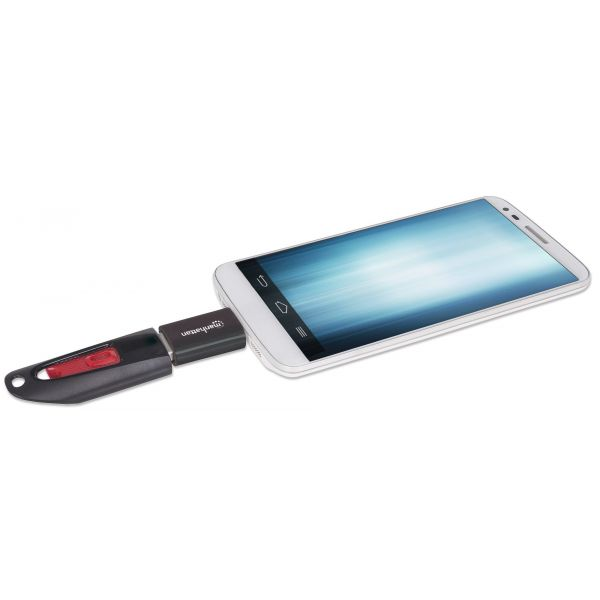ADAPTADOR OTG MANHATTAN USB SMARTPHONE TABLET 406192