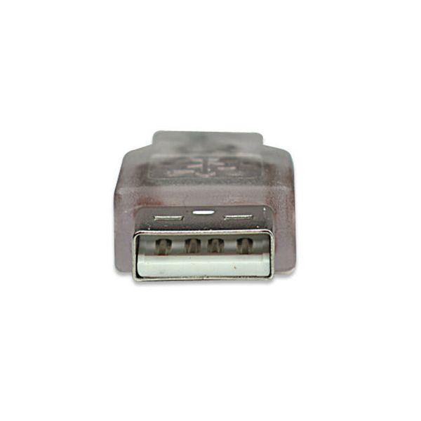 CABLE USB V2.0 MANHATTAN A-MINI B  1.8M PLATA  333412