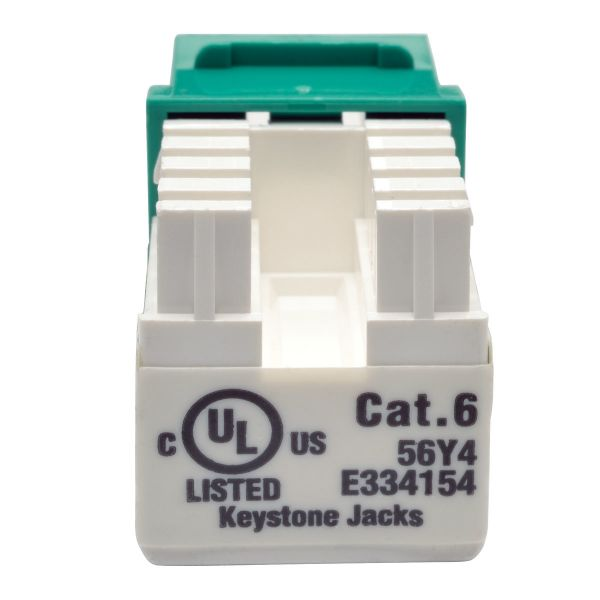 JACK TRIPP LITE CAT6/CAT5E 110 RJ-45 HEMBRA VERDE N238-001-GN