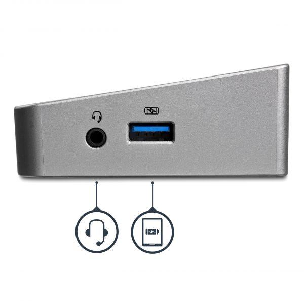 REPLICADOR STARTECH  USB 3.0 5x USB RED RJ45 HDMI DP USB3DOCKH2DP