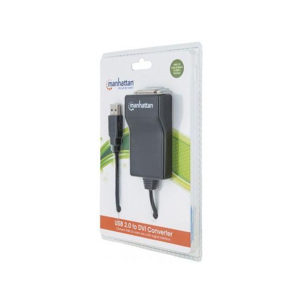 CABLE ADAPTADOR MANHATTAN USB 2.0 A DVI-I 1080P 152334