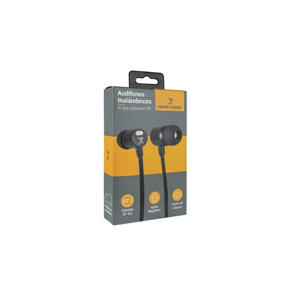 AUDIFONOS BLUETOOTH IN-EAR NEGROS PERFECT CHOICE PC-116783