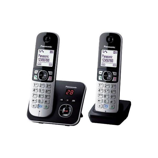 TELEFONO INALAMBRICO PANASONIC KX-TG6822EB ESCRITORIO NEGRO