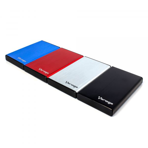 ENCLOSURE VORAGO HDD-102 ROJO DD 2.5 USB 2.0 SATA