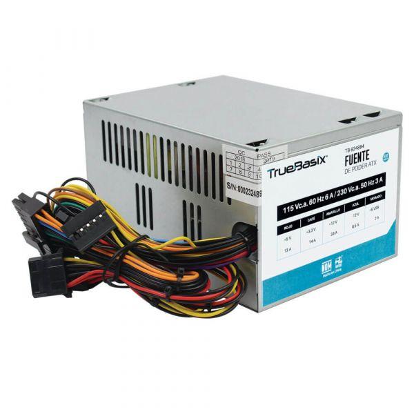 FUENTE DE PODER TRUE BASIX TB-924894 520 W PC PLATA