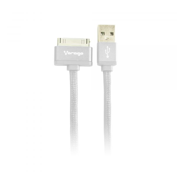 CABLE VORAGO CAB-118 USB-APPLE DOCK 1 METRO BLANCO BOLSA
