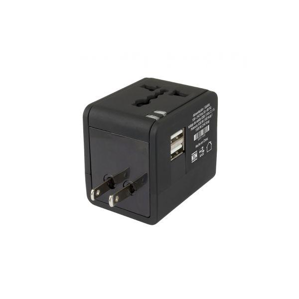 ADAPTADOR CONECTORES PARA VIAJE 2 PUERTOS USB PERFECT CHOICE PC-240341