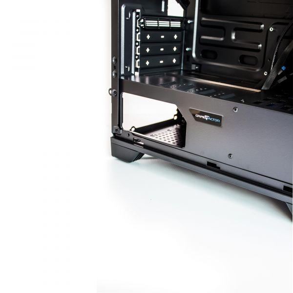 GABINETE GAMER GAME FACTOR CSG500 mATX RED USB 3.0 1 VENT 120MM S/FTE