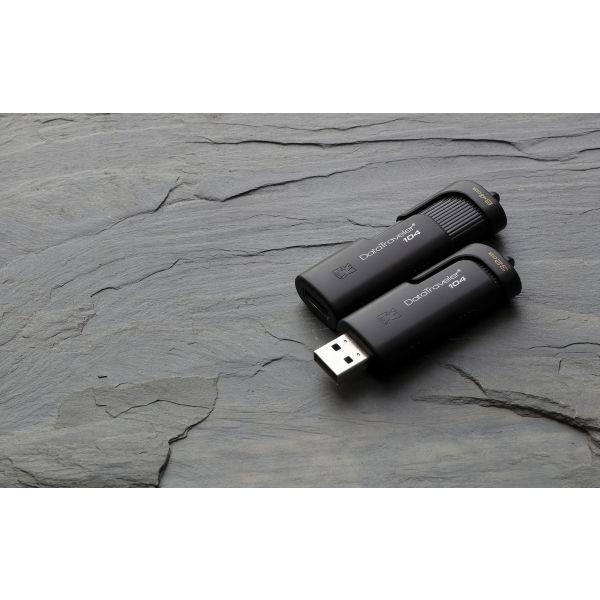 MEMORIA USB DE 16GB KINGSTON TECHNOLOGY DT104/16GB NEGRO 16 GB USB 2.0
