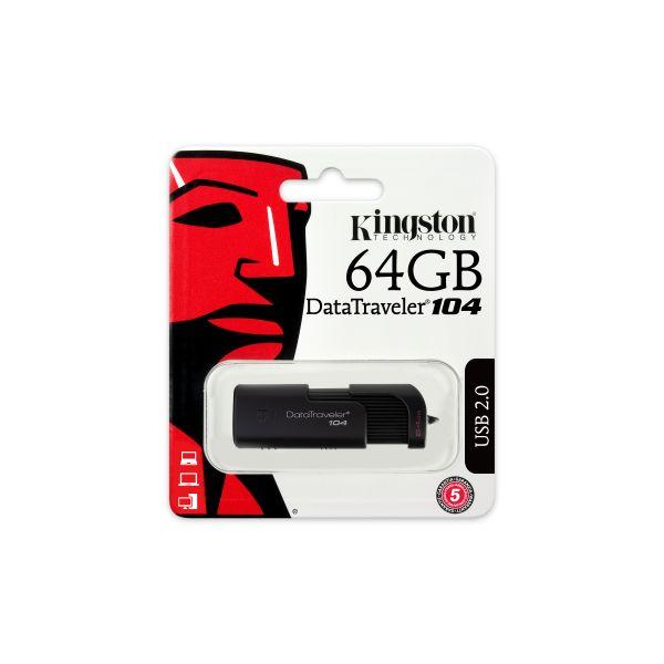 MEMORIA USB FLASH KINGSTON 64 GB USB 2.0 (DT104/64GB)