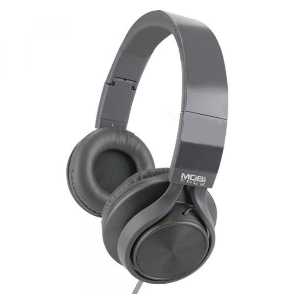 AUDIFONOS ACTECK ON-EAR CON MICROFONO METALICOS GRIS MB-02012