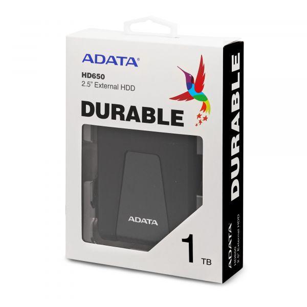 DISCO DURO EXTERNO ADATA HD650 1TB 2.5 3.1 NEGRO (AHD650-1TU31-CBK)