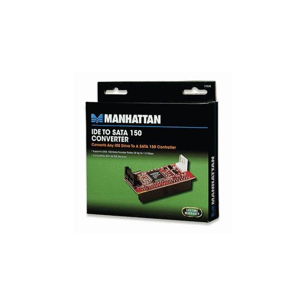 CONVERTIDOR MANHATTAN HDD IDE A SATA 150V 170958