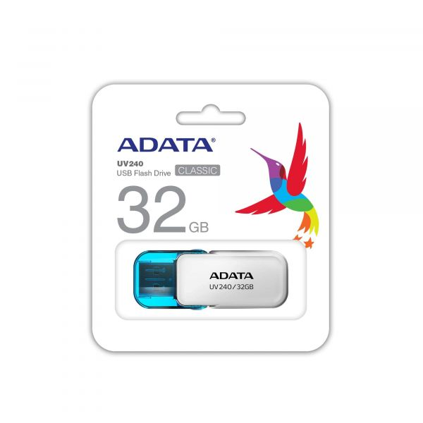 MEMORIA FLASH ADATA UV240 32GB BLANCO 2.0 (AUV240-32G-RWH)
