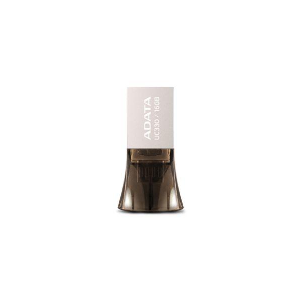 MEMORIA FLASH USB ADATA UC330 NEGRO 16 GB USB/MICRO-USB AUC330-16G-RBK