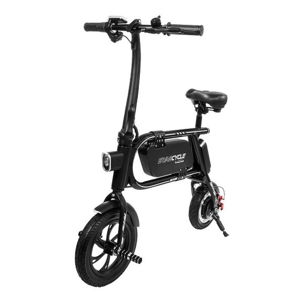 BICICLETA ELECTRICA SWAGCYCLE ENVY S/PEDALES BLACK