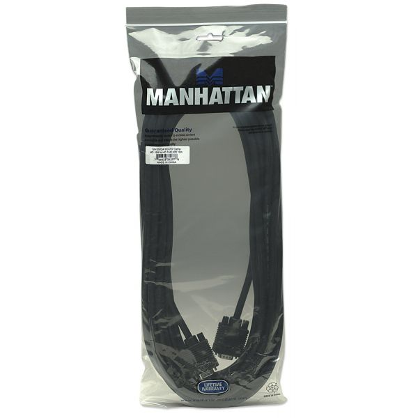 CABLE MONITOR SVGA MANHATTAN 8MM HD15M-M  9.0M 312776