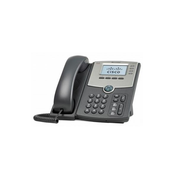 TELEFONO IP CISCO 4 LINEAS SPA514G CON SWITCH 2 PUERTOS PoP Y LCD