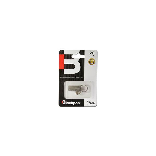 MEMORIA FLASH USB BLACKPCS 16GB PLATA ALUMINIO (MU2102S-16)