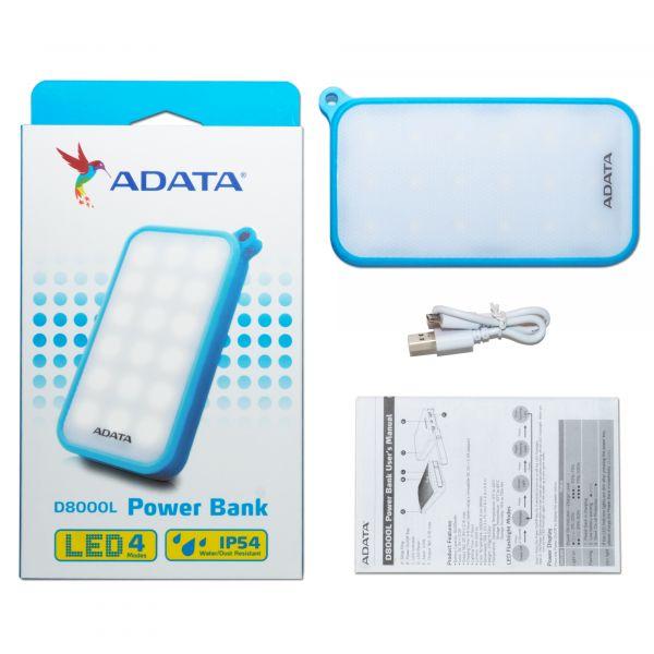 POWER BANK ADATA D8000L AZUL 8000 MAH