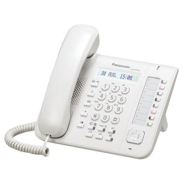 TELEFONO DIGITAL PANASONIC KX-DT521 ALTAVOZ PANTALLA LCD COLOR BLANCO