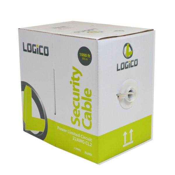 CABLE DE ALARMA LOGICO PLC4212 4x22 305 METROS COLOR BLANCO