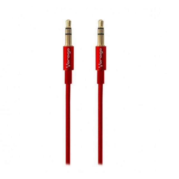 CABLE DE AUDIO VORAGO CAB-108 3.5 MM redondo METALICO ROJO BLISTER