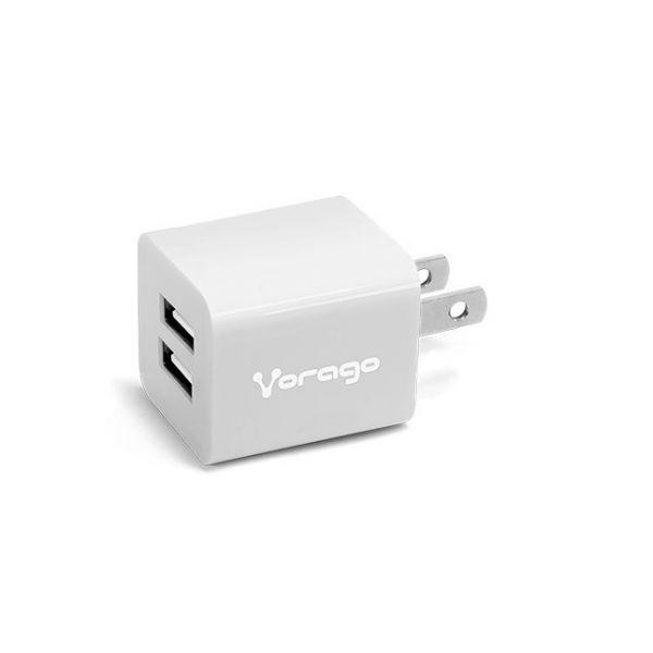 CARGADOR PARA PARED VORAGO AU-106 CON 2 PUERTOS USB BLANCO